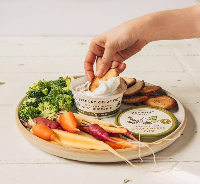 Vermont Creamery introduced its newest line, Goat Cheese Dips, at this year's Winter Fancy Food Show