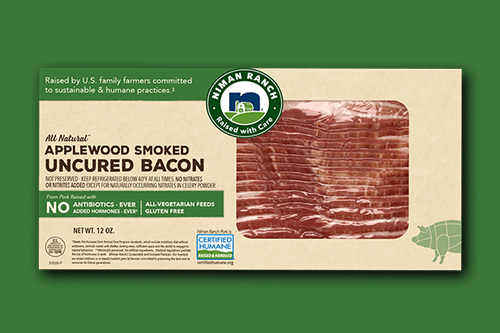 Niman Ranch won Gold in the Meat, Poultry, and Seafood category of the Specialty Food Association's 2021 sofi Awards for its Applewood Smoked Uncured No Sugar Bacon