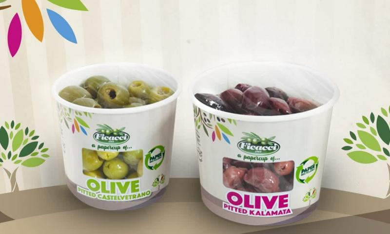 Soon to hit retail from Ficacci Olive Company, the new Ficacci PaperCup® offering is revolutionizing the olive category as the company emphasizes its commitment to the planet