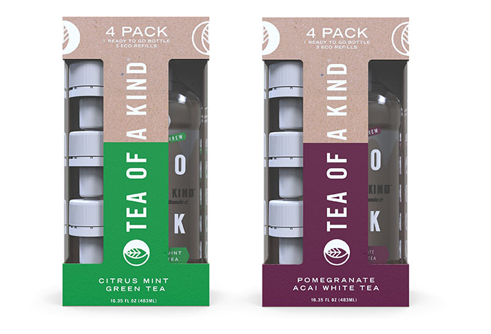 Eco-friendly 4-pack Tea of a Kind