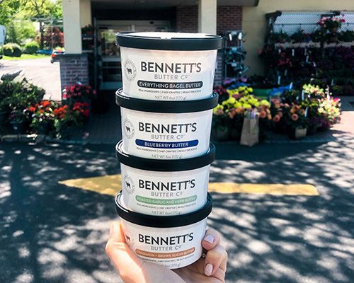 Bennett's Butter Co. products are currently available at King's and Balducci's supermarkets, with more locations coming soon