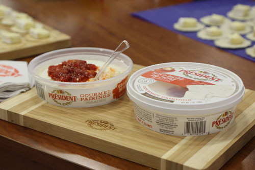 Président Cheese products are easily spreadable and dippable