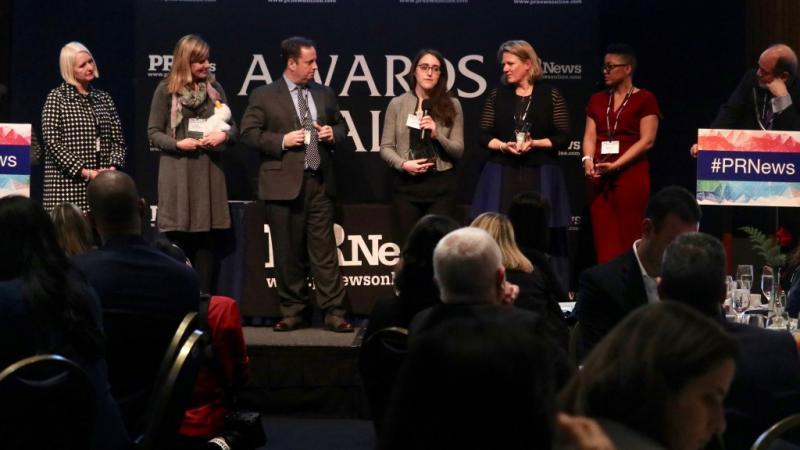 Award presentations at PR News' 2018 CSR Awards & Nonprofit Awards