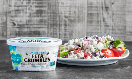 Follow Your Heart is helping to expand the plant-based category with its new Dairy-Free Feta Crumbles Cheese Alternative