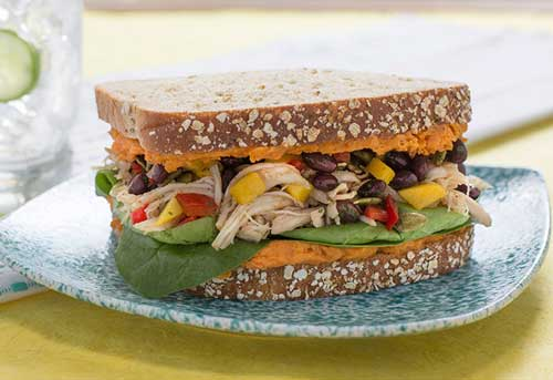 Spiced Caribbean Chicken Sandwich, Fueling Good Cadidate