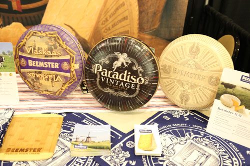 Beemster Cheese Wheels on display at ACS's 2017 Judging & Competition