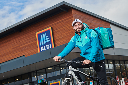 Aldi has expanded its Deliveroo trial by nearly six times, extending it to almost 130 stores across the United Kingdom