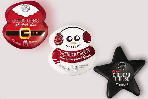 Aldi is spreading the holiday spirit with its new cheese line that features unique holiday shapes and flavors