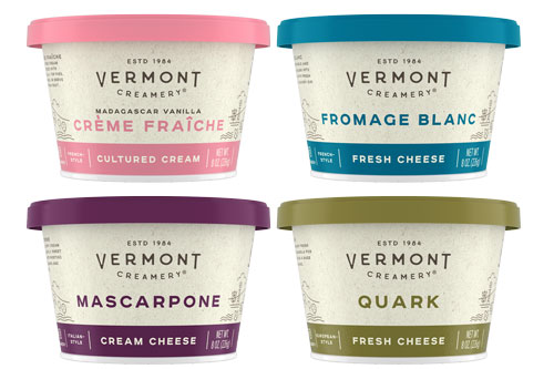 Vermont Creamery is debuting new packaging for its eight oz. cupped products