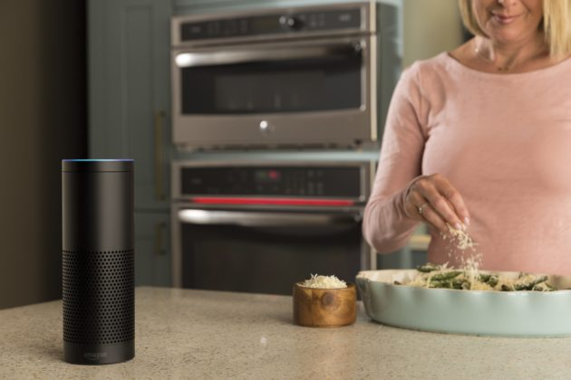 Amazon's Alexa in the kitchen