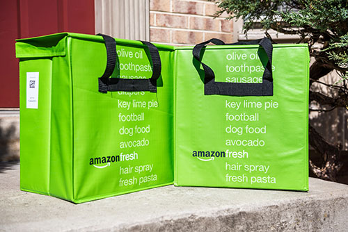 """Amazon recently announced the launch of a U.K.-based """"ultra-fast"""" grocery delivery service: Ultra Fast Fresh"""