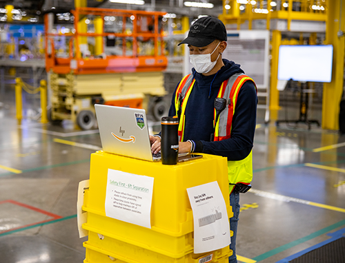 Amazon is continuing to meet the demand for online delivery by opening two new fulfillment centers in Kansas