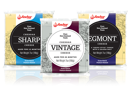 As a New Zealand company that imports cheese to the U.S., Anchor Dairy's new look is meant to be the natural next step in the company's global growth