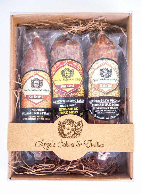 All natural, purebred Berkshire Pork free of nitrates or nitrites. Classic French & Italian-styled salumi.