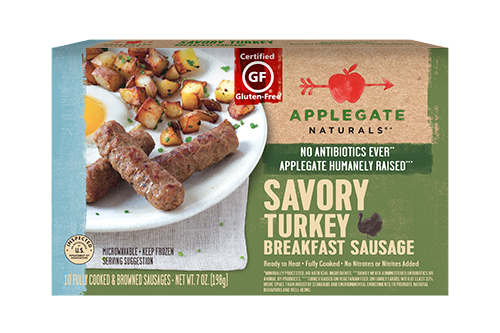 Applegate's donation included 13 pallets of frozen Applegate Naturals® Peppered Turkey Breakfast Sausage