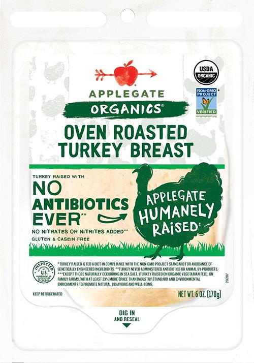 Applegate oven roasted turkey breast free of carrageenan