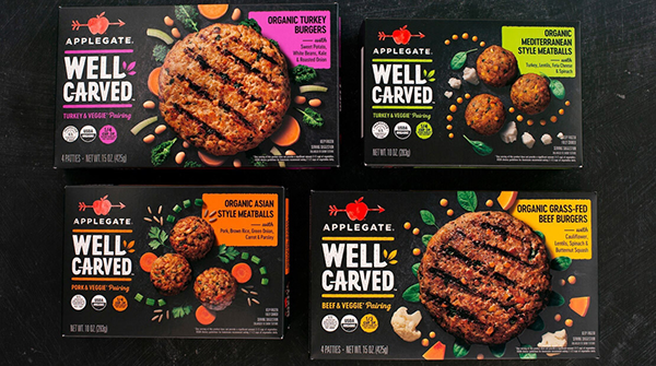 Applegate® recently rolled out its new chef-crafted Well Carved™ product line that combines meat with whole vegetables, legumes, and grains