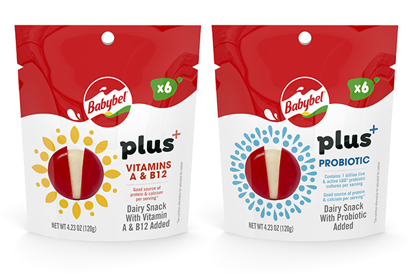 Babybel® announced a new range of functional dairy snacks available in two varieties, Babybel Plus+ Probiotic and Babybel Plus+ Vitamins