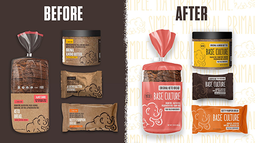 Base Culture updated its product packaging for a new fresh look