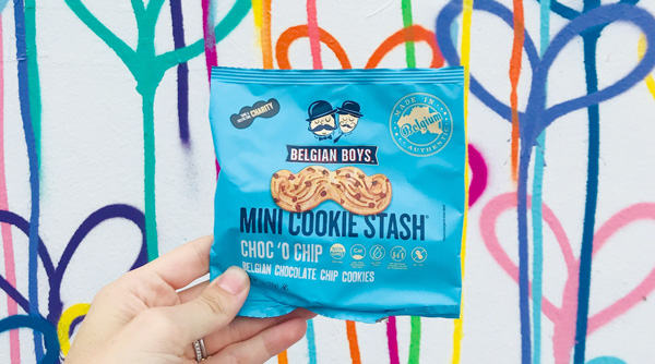 Belgian Boys' Mini Cookie Stash cookies have the trendy taste of cookie butter and offer a chance to engage social media and give back at the same time