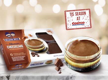 Costco is now carrying Belgian Boys Zillionaire Cheesecake 6/packs for the holiday season