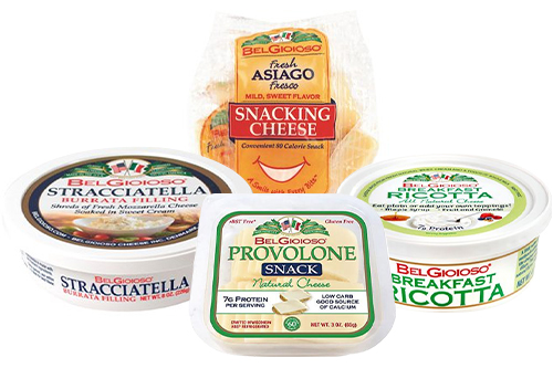 "BelGioioso is introducing a new 3-oz. Provolone Snack Tray; All-Natural 4-oz. Breakfast Ricotta; 8 oz. Stracciatella Cups ""The Heart of Burrata;"" and Fresh Asiago Fresco Snacking Cheese"