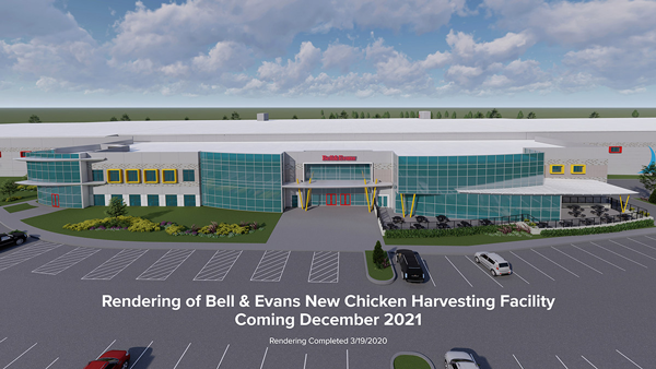 Bell & Evans has unveiled exciting news as it announced that it has begun construction on a new Organic-Certified Chicken Harvesting Facility in Fredericksburg, Pennsylvania