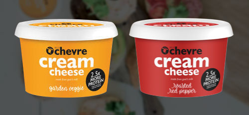 Belle Chevre's two new flavors of cream cheese brings the line to eight flavors in total