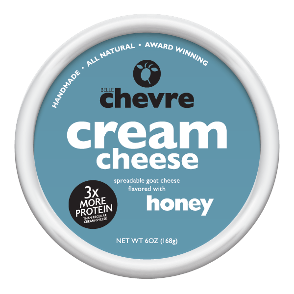 Belle Chevre spreads contain 6 grams of protein, less than 8 grams of fat, and only 100 calories