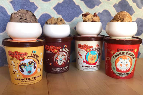 Big Dipper cookie dough comes in a range of flavors, including Rocket Chip, Domination, Galactic Fusion, Super Cluster, and Antimatter