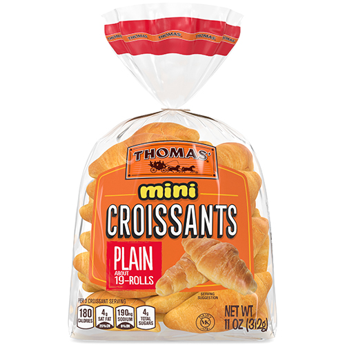 Thomas' Mini Croissants promise mess-free dough and a no-cook breakfast, with a soft rich flavor