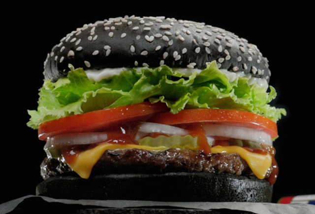 Burger King's American version of the Halloween Whopper (Photo Source: Thrillist)