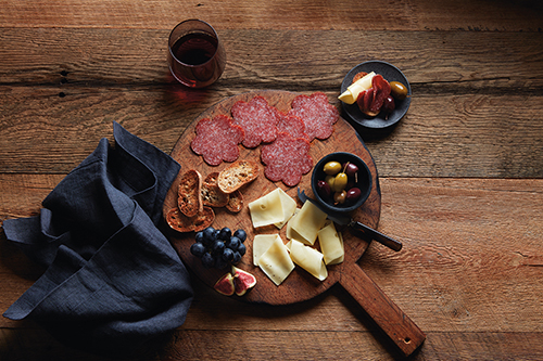 Black Kassel's meat and cheese plates are perfectly portioned