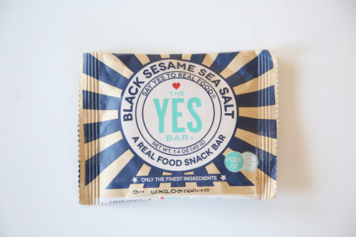 The YES Bar's Black Sesame Sea Salt Bar
