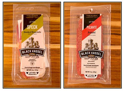 Black Kassel's Speck (Smoked Prosciutto) and Picante Salami