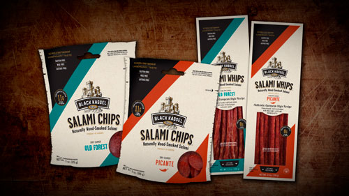Salami Whips is a long, thin diameter salami meat snack that launched in late 2017 and has steadily gained consumer acceptance over the last year and a half