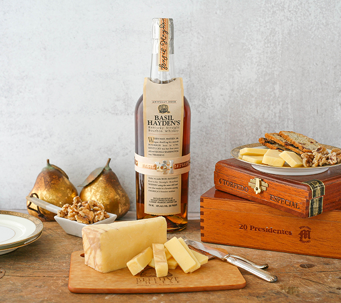 Beehive Cheese recently announced its partnership with Basil Hayden's® Bourbon and released a new bourbon-infused cheese