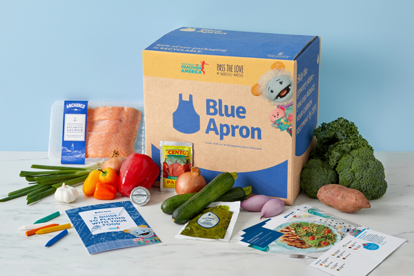 Designed to support Pass the Love w/ Waffles + Mochi, a campaign created by Partnership for a Healthier America (PHA), former First Lady and PHA Honorary Chair Michelle Obama, and Higher Ground Productions, Blue Apron has launched its new Pass the Love Boxes