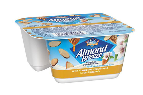 Blue Diamond Growers is expanding into the non-dairy yogurt market, introducing new yogurt products made exclusively with its Almond Breeze almond milk