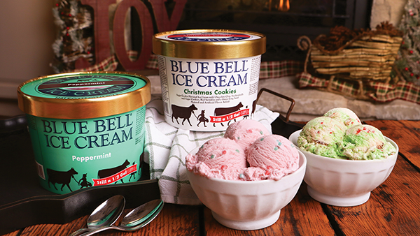 Blue Bell is bringing back its iconic Christmas Cookies and Peppermint flavors just in time for the holidays