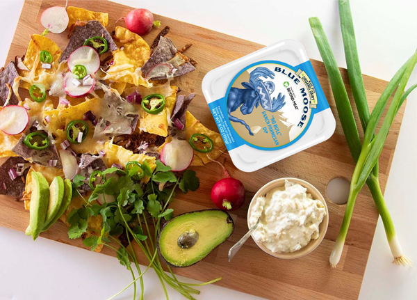 Blue Moose and Beyond Meat have teamed up to launch plant-based cheese dips made with Beyond Beef crumbles