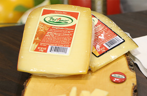 Parrano Cheese is characterized as a blend of creamy gouda and a sweet nutty parmesan