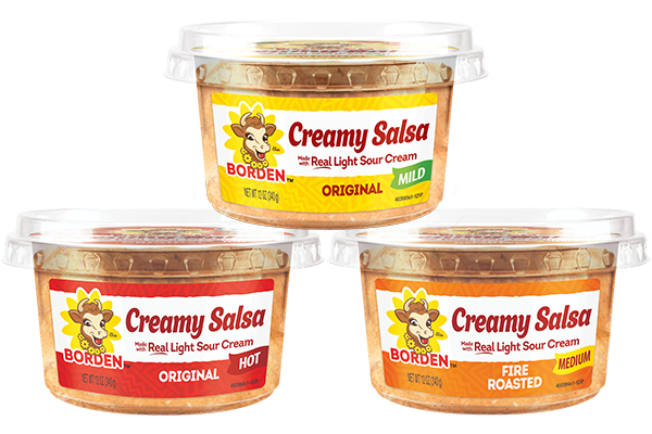 Borden Dairy broke into the pre-made dips category with its creamy salsa launch