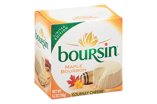 Boursin's new Maple Bourbon Gournay cheese is the newest member of their Autumn product line