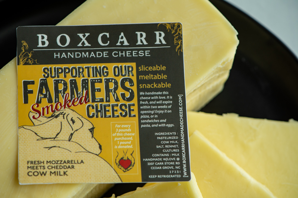 Boxcarr Handmade Cheese is doing its part to help the local foodservice and food bank operators in its community, including crafting a new unique cheese