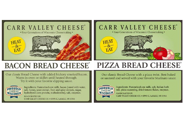 Carr Valley Cheese Co. has released two new flavors to the growing Bread Cheese® line
