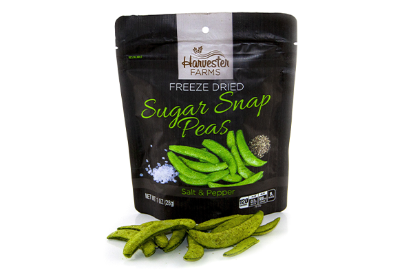 Brothers All Natural recently launched the Harvester Farms savory vegetable line with the introduction of delectable Freeze-Dried Sugar Snap Peas