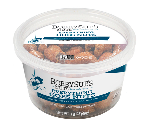 BobbySue's Everything Goes Nuts 3.5-oz. PET container