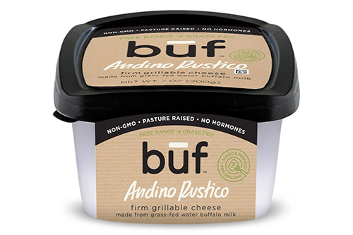 Būf's silver-award-winning Andino Rustico is made with water buffalo milk and a spreckle of mint