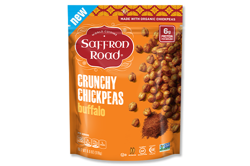 Climbing awareness, and even demand, for chickpeas has carved out a space for further innovation, which Saffron Road® is taking into account with its newest snack offerings